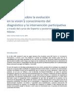 Reflexiones Sobre La Evolucion en La Vision y Conocimiento Del Diagnostico y La Intervencion Participativa