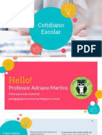 COTIDIANO ESCOLAR-Pedagogia Para Concurso