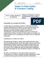FOA Para Fibra Óptica - Insensibles Al Doblado de La Fibra