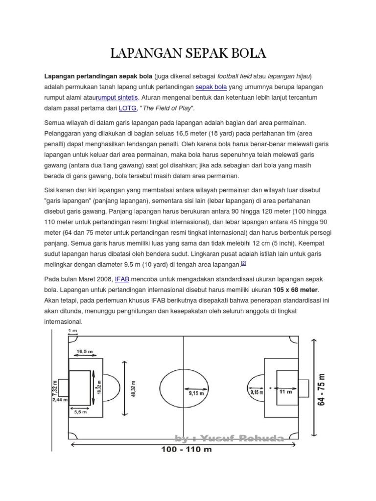 88+ Gambar Bentuk Lapangan Sepak Bola Paling Hist