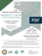 Agency Fair Parent Workshops