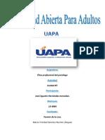 Etica Profesional Del Psicologo Tarea#7