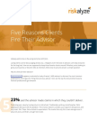 20170911 Five Reasons Clients Fire Their Advisor