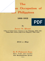 The American Occupation of the Philippines 1898-1912 by James H. Blount