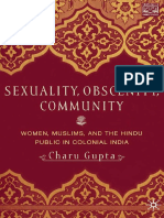 (Comparative Feminist Studies) Charu Gupta (Auth.)-Sexuality, Obscenity, Community_ Women, Muslims, And the Hindu Public in Colonial India-Palgrave Macmillan US (2001)