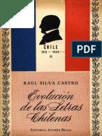 Evolución de Las Letras Chilenas - Raúl Silva Castro