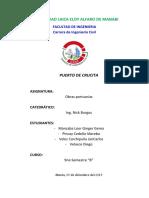 Informe 1 Obras Portuarias