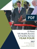 El Paso VA Health Access and Facility Survey - Year Four