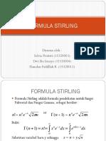 Formula Stirling