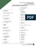 Ejercicios Manejo Exponentes (Tarjetas Azules)