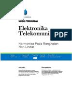 Modul Elektronika Telekomunikasi Harmonisasi Rangkaian Non Linier