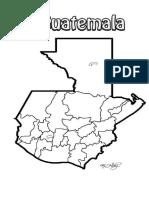 Mapa Guatemala en Blanco y Negro