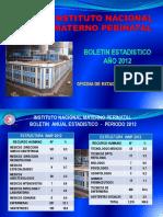 Boletin Estadistico Inmp 2012 c