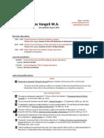 Anastas Vangeli's CV
