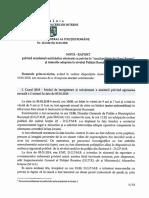 NOTA RAPORT Privind Rezultatul Verificarilor Efectuate Cu Privire La Cazul Politistului Stan Eugen Si Masurile Adoptate La Nivelul Politiei Romane