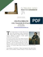 Chateaubriand e Il Viaggio in Italia