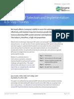 Navigating ERP Selection Implementation 5 Step Process