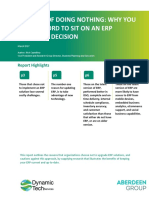 The Cost of Doing Nothing Why You Can't Afford to Sit on an ERP Software Decision White Paper