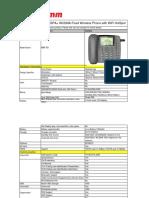 MAXCOMM 3G HSPA+WCDMA WiFi HotSpot FWP Phone Spec-MW-50