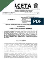 Decreto de Creación de La Universidad Mexiquense Del Bicentenario