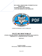Discopatie Teza Doctorat