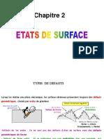 Etats de Surface