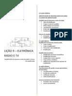 Amplificação de Pequenos Sinais de Áudio e Classes de Amplificação