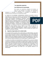 Tarea I. Historia de La Psicologia