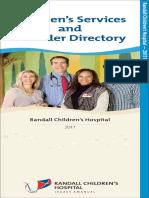 Randall Children's Hospital - 2017 Directory