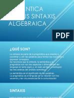 Semántica Versus Sintaxis Algebraica