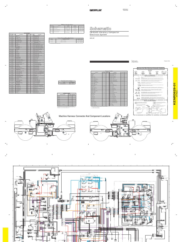 Cat Cb434d Roller Wiring Diagram | Switch | Relay on