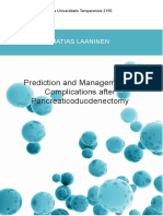 Prediction and Management of Pancreaticoduodenectomy