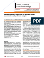 Pharmacological Interventions for Improved Colonic Anastomotic Healing- A Meta-Analysis
