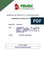 ESP P 6965 Analiz Cromatografo