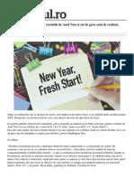 Care Sunt Cele Mai Comune Rezolutii de Anul Nou Si Cat de Greu Sunt de Realizat