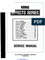 Korg Guitar Effects Service Manual