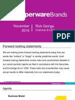 TUP Tupperware Morgan Stanley Presentation November 2016