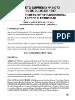 24772 Reglamento de Electrificación Rural