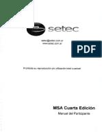 MSA CUARTA EDICION Curso SETEC Con Notas Marginales