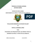 EVALUACIÓN SENSORIAL DEL PAN DE  PULQUE