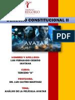 analísis juridico de avatar