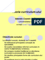7 - Teoria Curriculum-ului