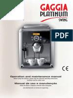 Manual Gaggia Platinum Swing