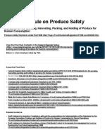 Food Safety Modernization Act (FSMA) _ FSMA Final Rule on Produce Safety