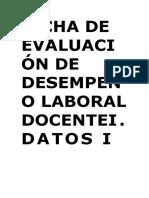 0001 - Demostración Modelo de Ficha Desempeño Laboral