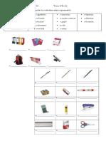 Ficha de Trabalho A1 - Material Escolar