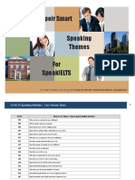 Speak IELTS Speaking Simulator Themes