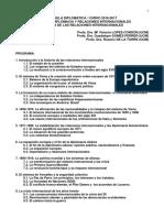 Historia de Las Relaciones Internacionales Programa Curso 2016-2017 ADP Espanna