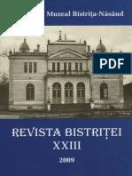 Revista Bistritei XXIII 2009