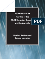 Heather Siddons, Sandra Lancaster-An Overview of the Use of the Child Behavior Checklist Within Australia_ Report (2004)